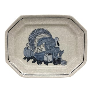 Studio Hand Potted Ceramic Turkey Platter