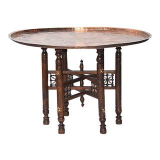Anatolian Copper Tray Table
