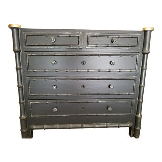 Vintage French Faux Bamboo Chest