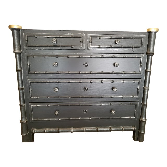 Vintage French Faux Bamboo Chest - Image 1 of 9