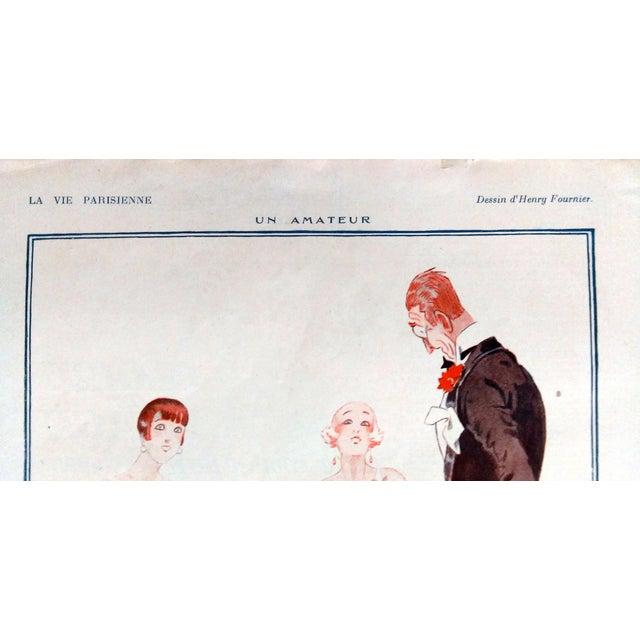 """Image of Fournier 1925 La Vie Parisienne """" Un Amateur"""" Print"""