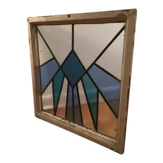 Vintage Art Deco Stained Glass Window Panel