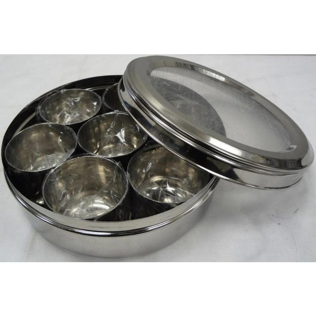 9-Spice Stainless Steel Masala Dabba Spice Box - Image 7 of 7