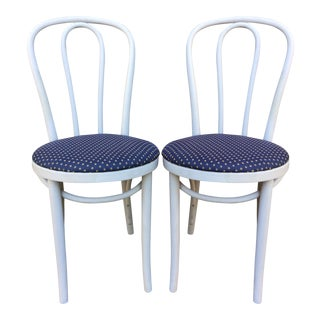 Reupholstered Bentwood Cafe Chairs - Pair