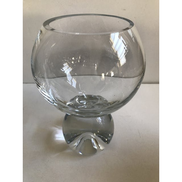 Contemporary Glass Ball Footed Vase - Image 6 of 8