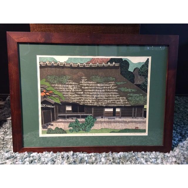 Takehiko Hironaga Large Woodblock Print - Image 2 of 8
