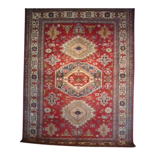 """Hand Woven Naturally Dyed Rug - 5'10"""" x 8' - Image 1 of 4"""