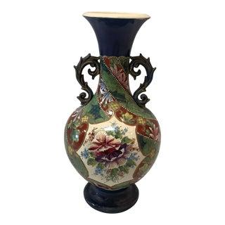 Vintage Nippon Style Hand Painted Ceramic Vase
