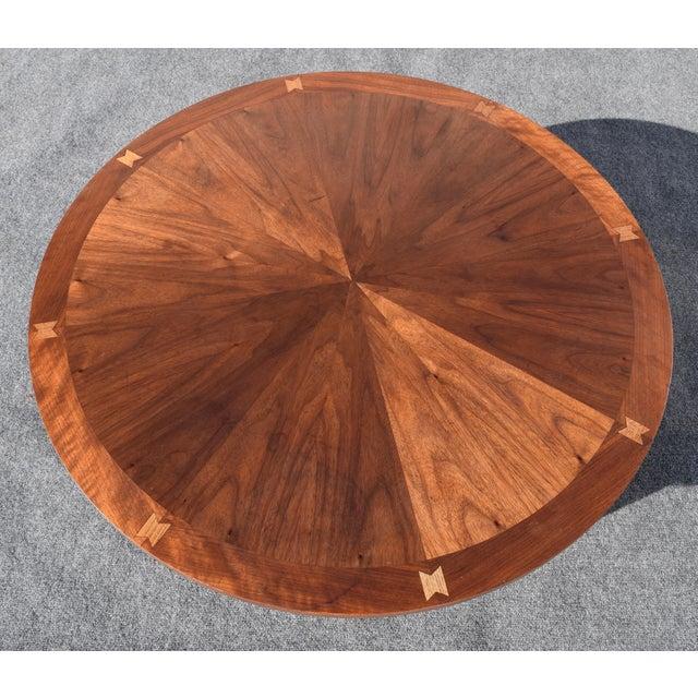Vintage Lane Mid-Century Modern Round Walnut Coffee Table
