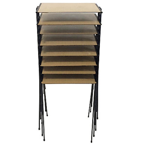 Stacking Tv Tables ~ Stacking midcentury tv trays s chairish