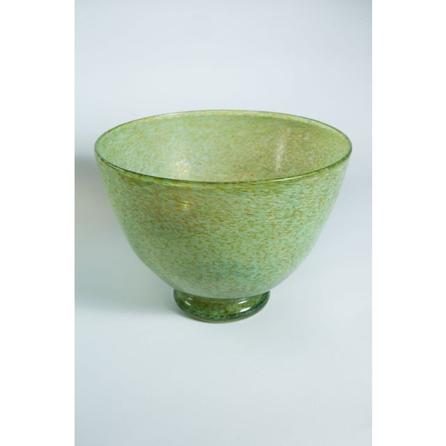 Hand-Blown Green Bowl - Image 2 of 4