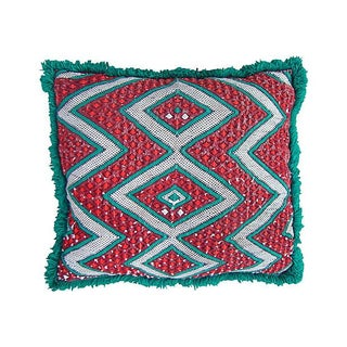 Moroccan Green Diamond Pillow Sham