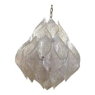 Kalmer Style Mid-Century Clear Acrylic Chandelier