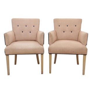 Midcentury Dotty Club Chairs, Pair