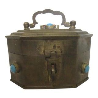 Boho India Brass Box