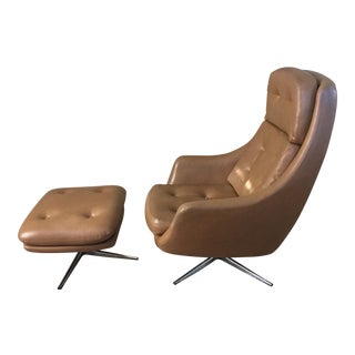 Mid-Century Overman Lounge Chair & Ottoman
