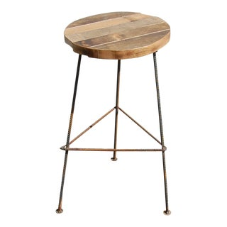 Rustic Industrial Bar Stool