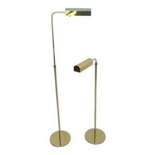Polished Brass Adjustable Floor Lamps by Casella - A Pair