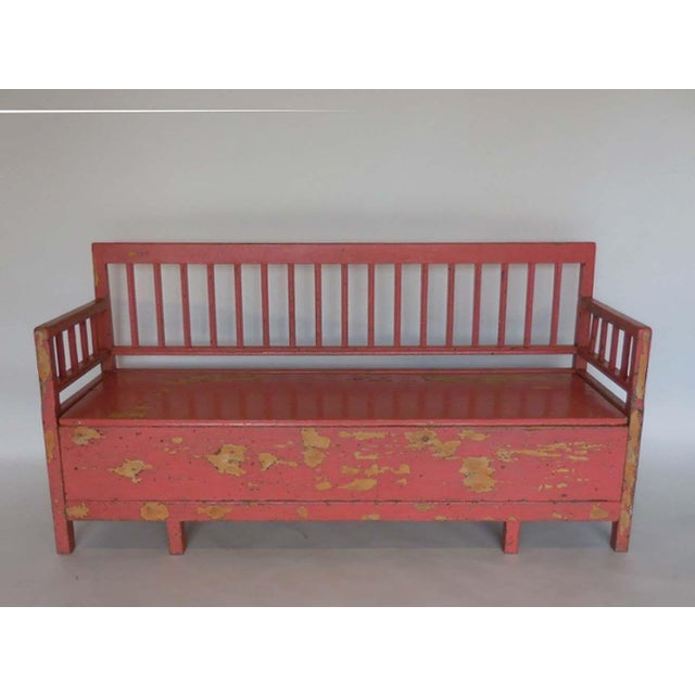 19th Century Painted Swedish Bench/Daybed - Image 2 of 9
