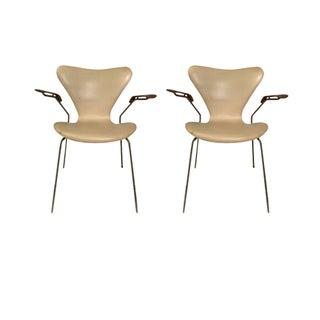 Vintage Arne Jacobsen Series 7 Arm Chairs - A Pair