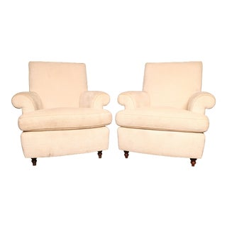 Custom Made Modern White Chairs - A Pair