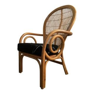 Vintage Mid-Century Bentwood Rattan Arm Chair