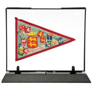 Framed Vintage French Normandie Pennant