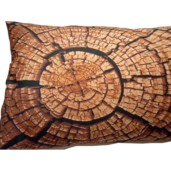 Image of Tree Ring Print Down Bolster Pillow