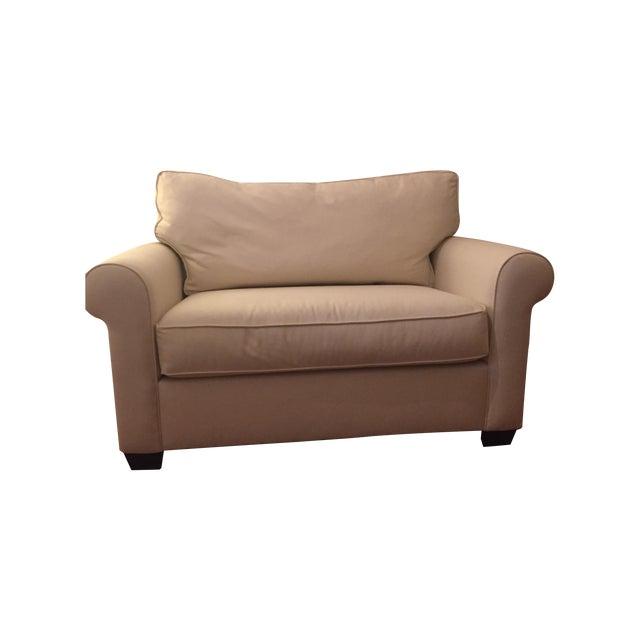 Pottery barn buchanan roll arm twin sleeper sofa chairish for Buchanan chaise sofa from pottery barn