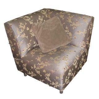 Silk Upholstered Corner Chair