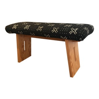 African Mud Cloth Bench