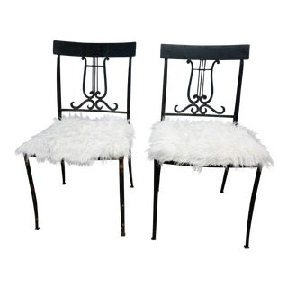 Wrought Iron Musical Chairs - A Pair