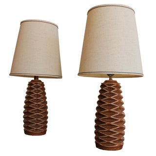 MCM Ceramic Table Lamps - Pair