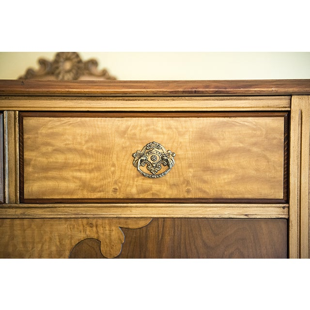 Vintage Maple Dresser with Walnut Veneers - Image 2 of 6