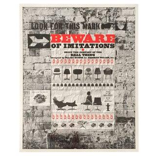 Eames Herman Miller Beware of Imitations Print