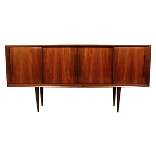 Stately Danish Modern Rosewood 4 Door Sideboard