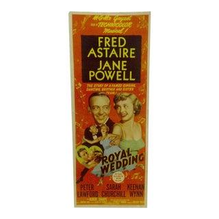 "Vintage ""Royal Wedding"" 1950 Movie Poster"