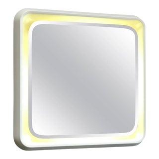 Italian Lighted Square Mirror, 1970s