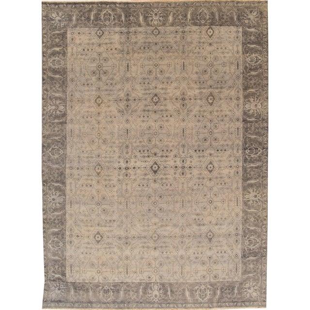 """Image of Modern Oushak Wool Rug- 10'1"""" x 13'8"""""""