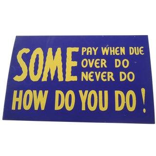 40s Paper Board Shop Sign