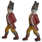 Image of Antique Hessian Soldier Andirons, Movie Props