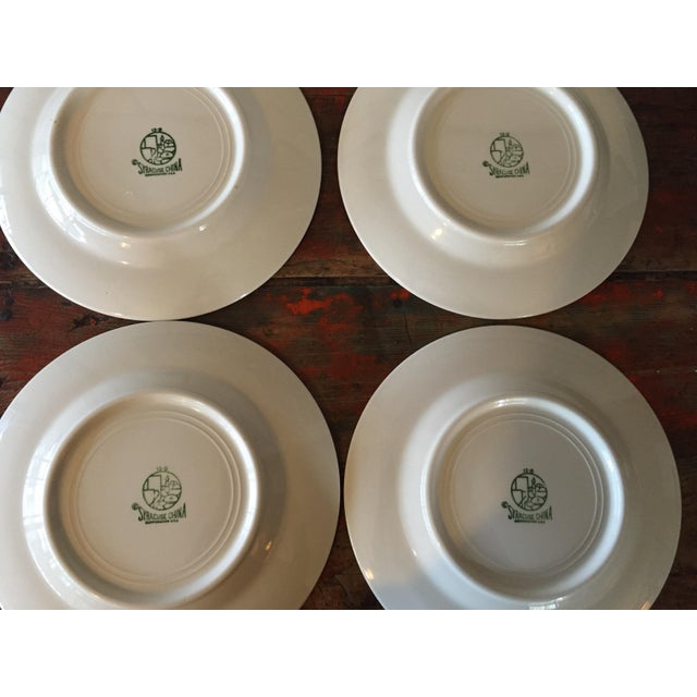 Vintage Restaurant Ware White & Gold Plates - Set of 4 - Image 8 of 9