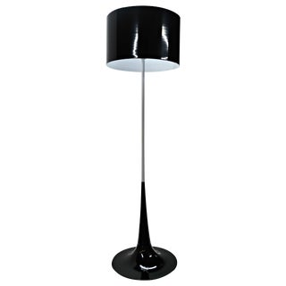 Mid Century Black & White Tulip Floor Lamp