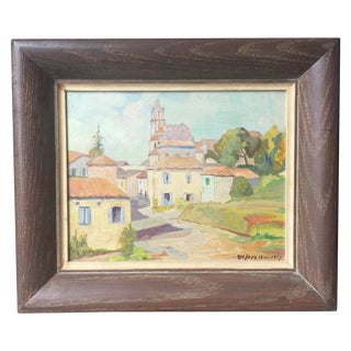 1955 Vintage French Countryside Oil Painting