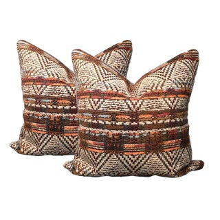 Woven Chenille Pillows - A Pair