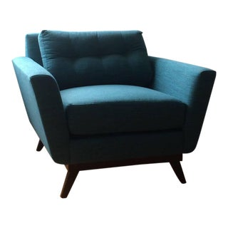 Mid-Century Modern Turquoise Chair
