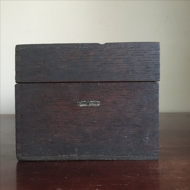Vintage Globe Wernicke Wooden Index Card File Box - Image 4 of 11