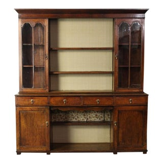 George III Oak Display Cabinet