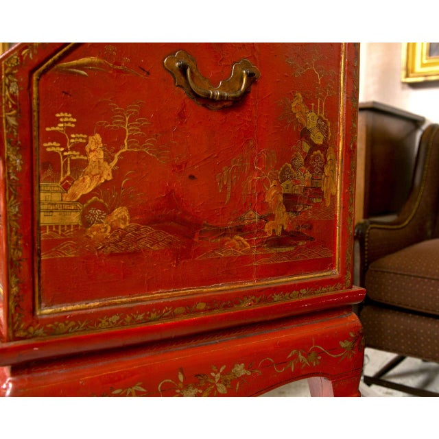 Antique 19th Century Painted Chinoiserie Vanity - Image 9 of 10