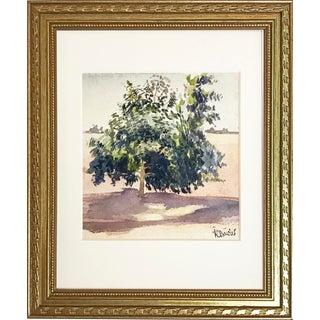 Harold C. Davies Watercolor of a Tree